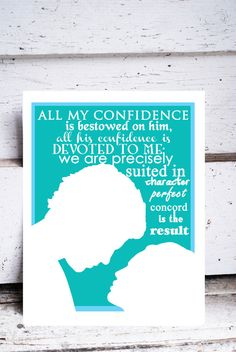 Jane Eyre art print novel movie quotes mr rochester by LeighsArt, $22.00
