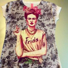 Frida Kahlo Short Sleeve Graphic Tee Shirt - Frida Rebel - Cielito Lindo Mexican Boutique