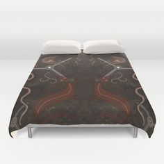Three Billabongs - Australian Aboriginal Art Theme Cover yourself in creativity with our ultra soft microfiber duvet covers. Hand sewn and meticulously crafted, these lightweight duvet covers vividly feature your favorite designs with a soft white reverse side. A durable and hidden zipper offers simple assembly for easy care - https://society6.com/product/three-billabongs-australian-aboriginal-art-theme-2ww_duvet-cover?curator=skyeryanevans