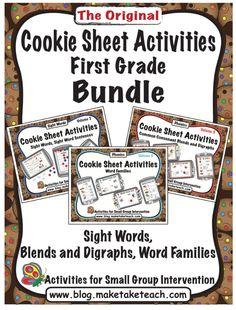 Cookie Sheet Activities - First Grade Bundle