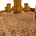 jericho mosaic from above