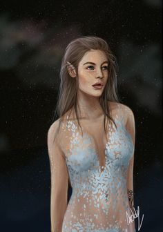Feyre on Starfall by cladelle. ACOMAF. A Court of Mist and Fury. Sarah J Maas