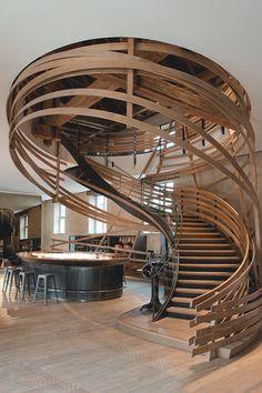 """livingpursuit: """"Amazing #Staircase at Hôtel Les Haras"""" via Life1nMotion"""