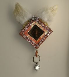 Archangel Michael Wall Hanging Shrine Handmade OOAK by tristanrobin on Etsy