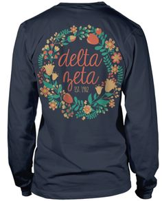Delta Zeta Floral Wreath!