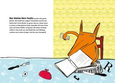 Franziska Biermann: Herr Fuchs mag Bücher. Mixtvision Verlag. #kinderbuch #illustration #fuchs #buch #lesen
