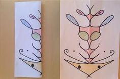 Meine Tochter hat eine sehr schöne Kunstidee mitheimgebracht aus der Schule. Man schreibt quasi ein Namensschild mit Edding, spurt auf der ...