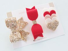 The TALLULAH RED COLLECTION Red and Gold by LovelyLittlesandCo