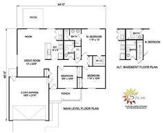 First Floor Plan of Ranch   House Plan 94430