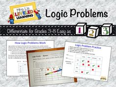 Give these a try! A really fun challenge for my high and gifted kiddos. Logic puzzles involve thinking skills that are so valuable and applicable in so many content areas, but  are rarely stated directly in content standards.