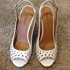 """White 4"""" pumps Super cute summer shoes Shoes Heels"""