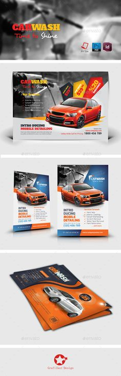 Pin by Carlos Langlais on therma drone Pinterest - car wash flyer template