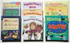 Most of my math picture books with links to each book's page on my site.