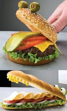 Pensez aux sandwichs rigolos !