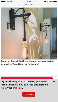 Hanging lights Wall Lights, Sconces, Grand Designs, Hanging Lights, Home Decor, Hanging, Professor Green, Light