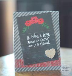 Reverse Confetti | www.reverseconfetti.com | Friend card using the new QUICK CARD PANELS