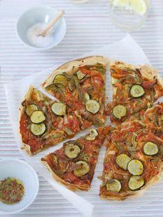 Recette de Tarte provençale fine, light, végétarienne, économique, rapide