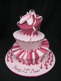 Pink Ballet Shoes Madhatter from cake planet .. I dream of one day making one like this