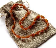 raw cognac amber necklace