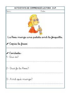 Dori dos 1112_mt005_r1_comprensio_lectora_3 Maila, Valencia, School, Texts, Reading Comprehension
