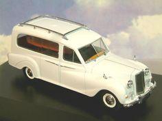 Oxford #Diecast Model - White Austin #Hearse #Car - 1:43 Scale - APH002