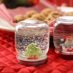 Homemade/DIY Snow Globes. So easy and cute you'll want to make several!