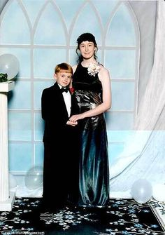 """I TOOK MY SIX YEAR OLD BROTHER TO PROM..AND ALL I GOT WAS THIS STUPID PICTURE....AND WAS MADE FUN OF EVER SINCE THEN..."""
