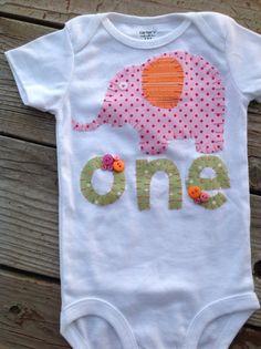 First Birthday Onesie, elephant onesie, baby shower decor, second birthday onesie, custom birthday shirt,