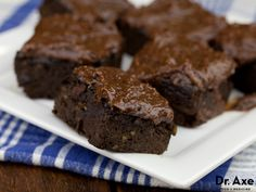 """Sweet Potato Brownies Recipe - DrAxe.com What the hell is """"sprouted almond butter"""" !?!?!"""