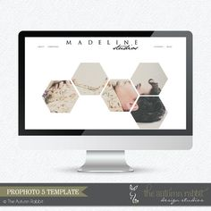 Prophoto Template -  Geometric Style Prophoto5 Website Template - Instant Download - Madeline Prophoto5 Template