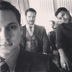 Pin for Later: This Week's Cutest Celebrity Candids  Matt McGorry showed off his playful side by captioning this photo #MCM, featuring two of his How to Get Away With Murder costars.