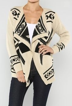 Aztec Tribal Cardigan from Pepper Knot $43.99