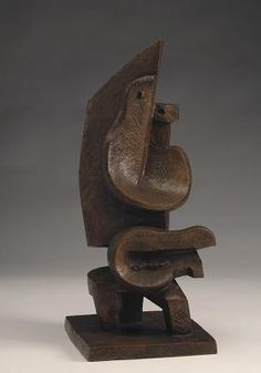 Man with Mandolin / 1925 / Jacques Lipchitz / Bronze