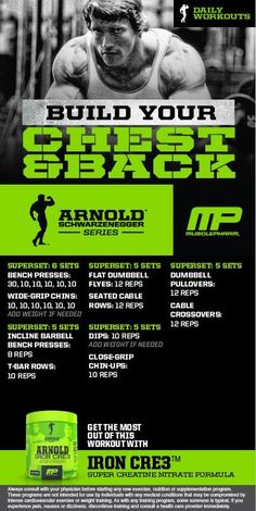 Arnold: Build your chest and back