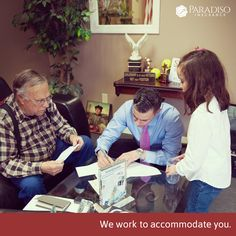 Part of our #paradisopromise at the agency is that we work to accommodate you. Whatever you need, whatever is easiest for you, we work with you.