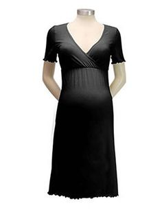 Japanese Weekend Maternity Nursing Nightgown Black at The Pump Station™