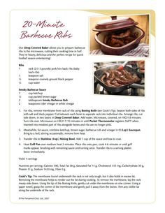20 Minute Barbecue Ribs in the Deep Covered Baker  www.pamperedchef.biz/aprilscookingshow