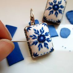 432 Likes, 10 Comments – Polymer Clay Art Jewelry ( on In… - fimo Polymer Clay Kunst, Polymer Clay Projects, Polymer Clay Creations, Polymer Clay Earrings, Fimo Clay, Polymer Clay Tutorials, Polymer Clay Pendant, Polymer Clay Embroidery, Clay Miniatures
