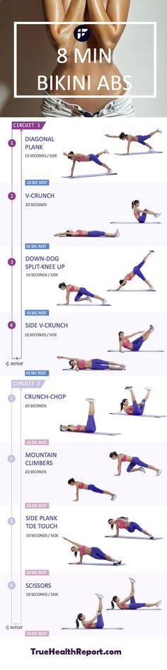 Want bikini abs in a few short minutes? Well, now you can get them all…