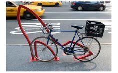 The David Byrne Bike Racks of New York City Bicycle Stand, David, Bike Shoes, Bike Rack, Yorkie, New York City, Public Spaces, Public Art, Outlines