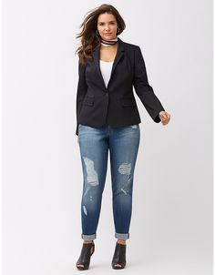 The Modernist Suit Jacket | Lane Bryant