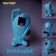 Paperpokés - Pokémon Papercraft: WOBBUFFET