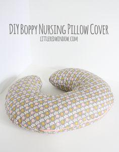 DIY Boppy Nursing Pillow Cover | littleredwindow.com | Sew your own nursing pillow cover, it's easy!