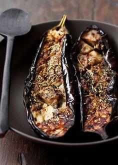 Herb Roasted Eggplant by purevege #Eggplant #Herbs