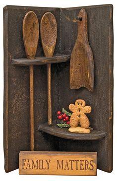Aged Corner Spoon Rack - Kruenpeeper Creek Country Gifts