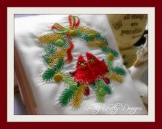 Adorable baby Cardinals grace a small wreath. Enjoy this wonderful design that's great for small gifts! Baby Cardinals, Small Gifts, Machine Embroidery, Cute Babies, Christmas Wreaths, Joy, Small Wreath, Holiday Decor, Pixies