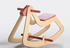 Wood Toys Design rocking horse, Christmas gift, modern wooden toys for kids, juni …
