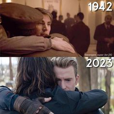 Stucky's first and last hug in MCU ❤❤ . Avengers Memes, Marvel Avengers, Marvel Comics, Marvel Memes, Bucky And Steve, Marvel Films, Marvel Characters, Chris Evans Captain America, Stucky