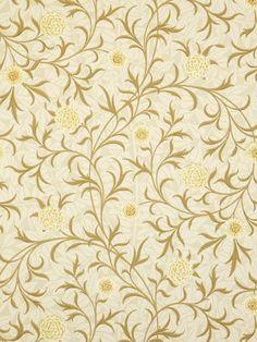 Sanderson Wallpaper, Morris & Co Scroll, Vellum / Biscuit, 210363