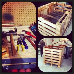 DIY Rabbit Hutch 3 hours, 6 pallets and these tools!